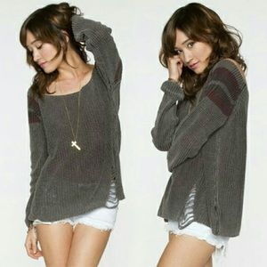 2 for 30 Distressed Margot Brandy Melville Sweater